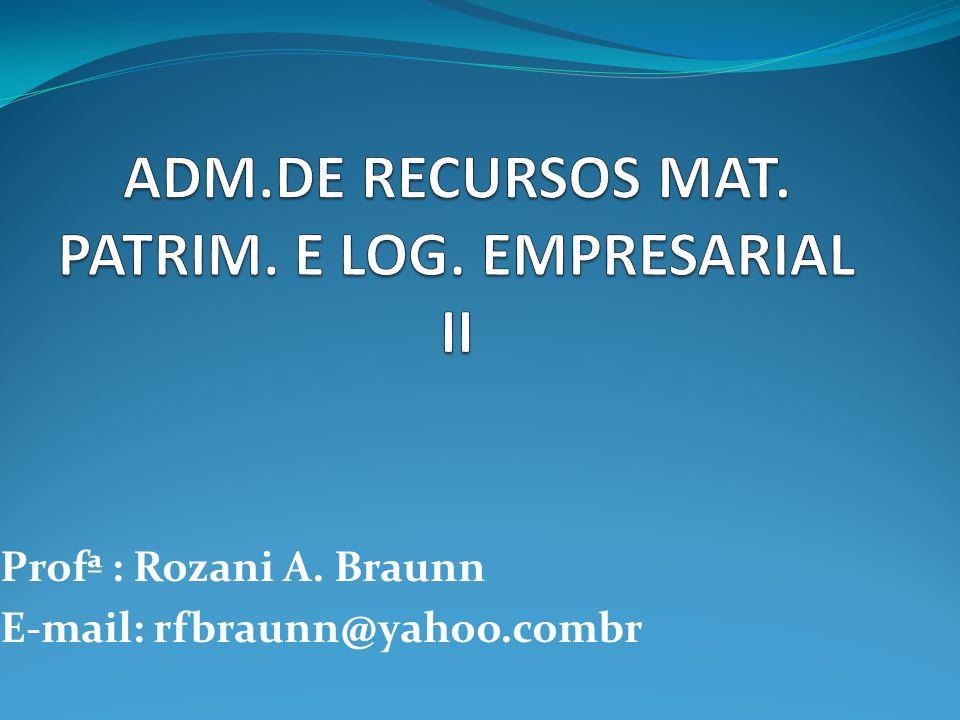ADM.DE RECURSOS MAT. PATRIM. E LOG. EMPRESARIAL II