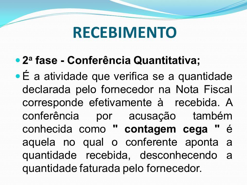 RECEBIMENTO 2a fase - Conferência Quantitativa;