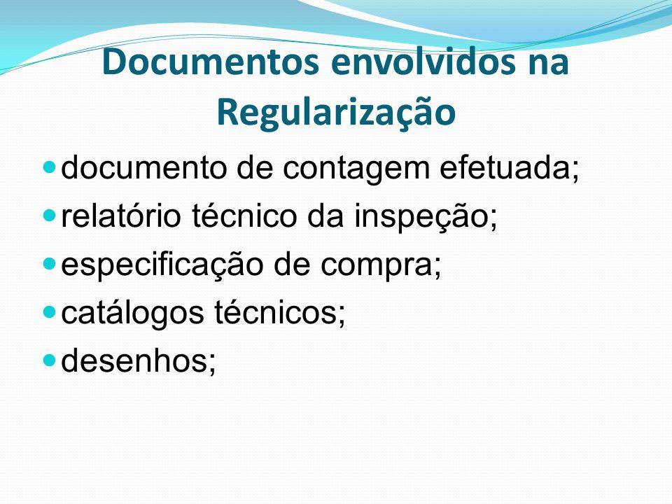 Documentos envolvidos na Regularização