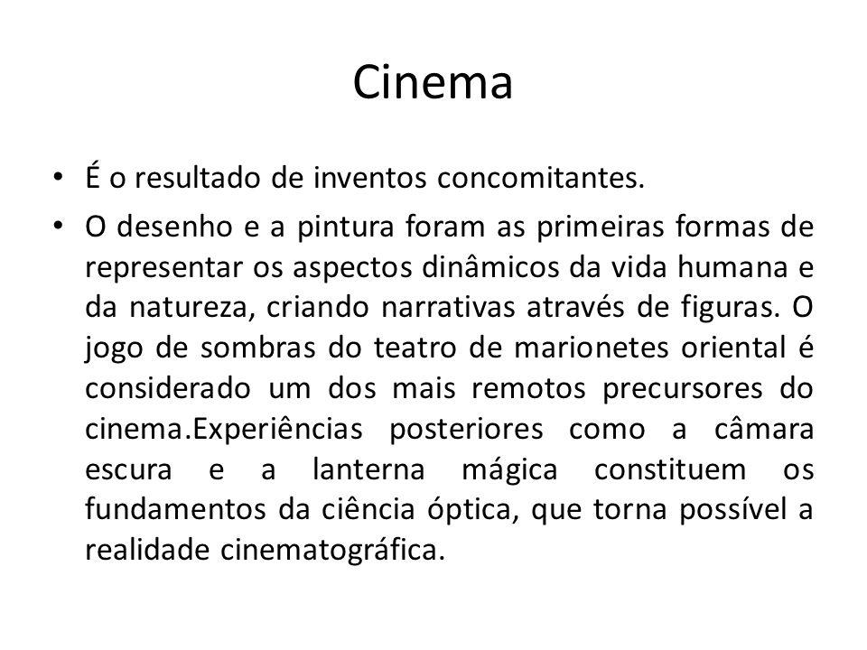 Cinema É o resultado de inventos concomitantes.