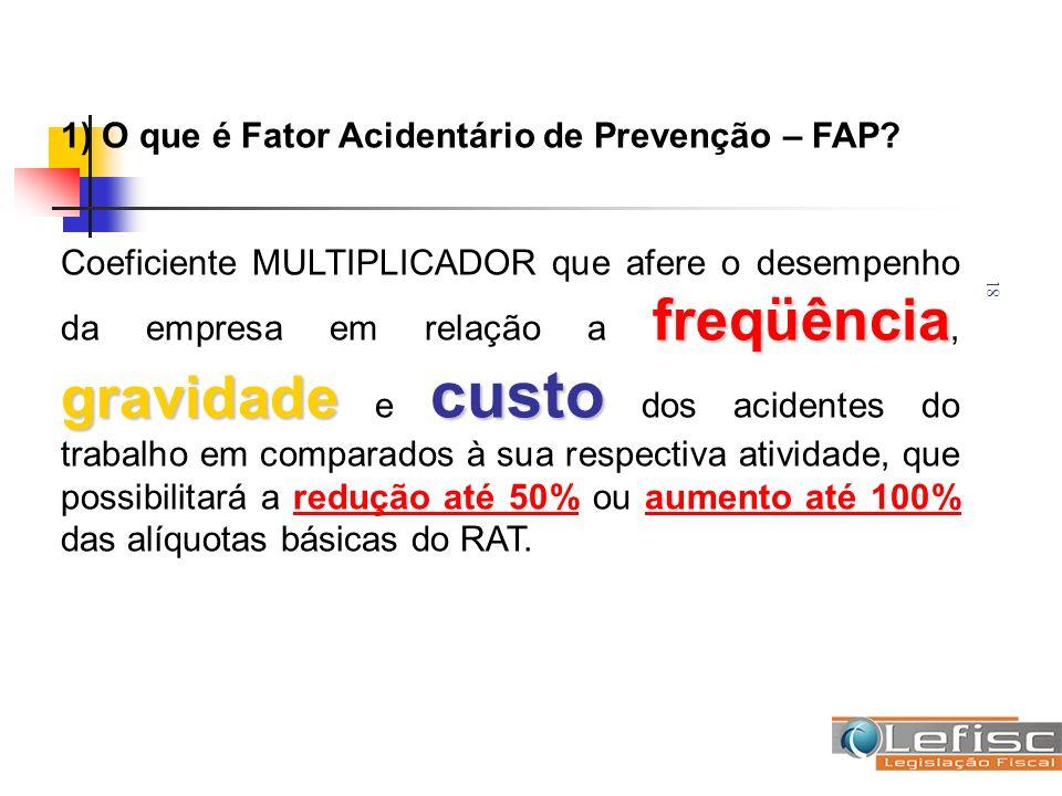 1) O que é Fator Acidentário de Prevenção – FAP