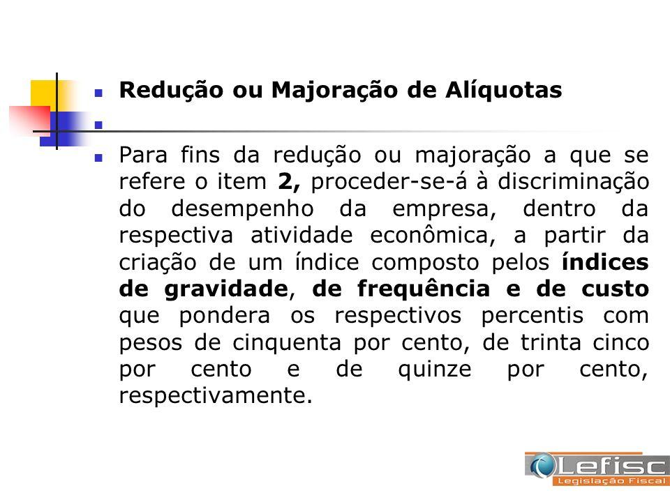 Redução ou Majoração de Alíquotas