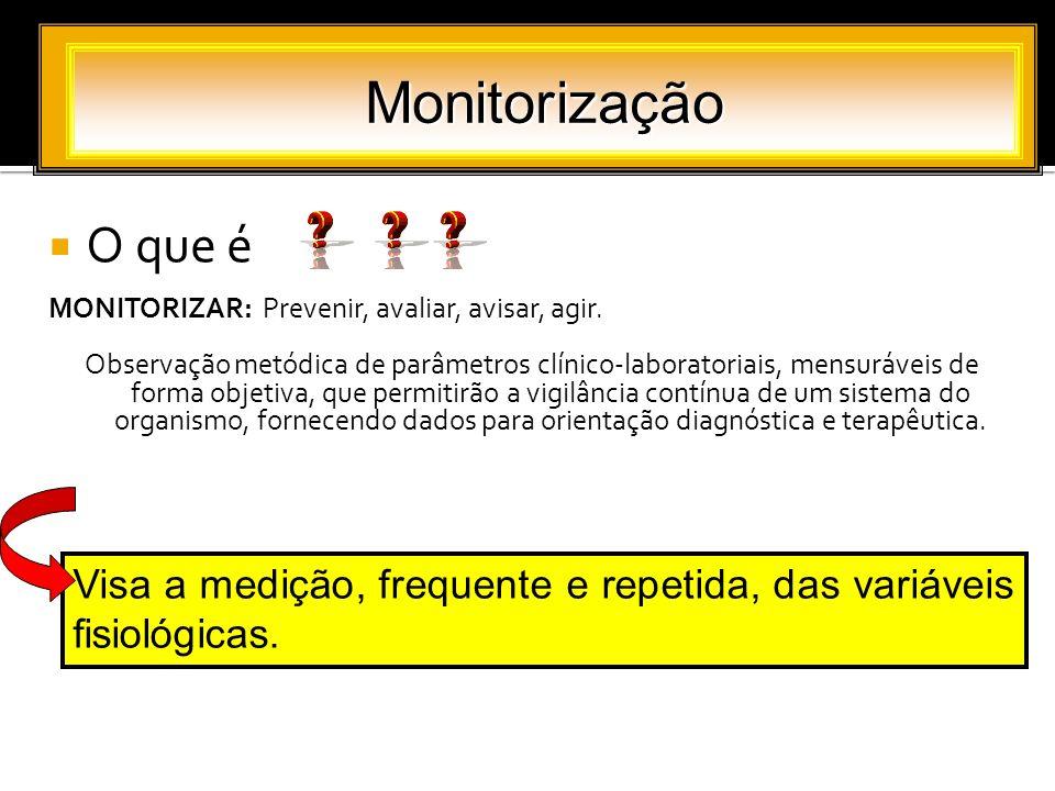 Monitorização O que é. MONITORIZAR: Prevenir, avaliar, avisar, agir.