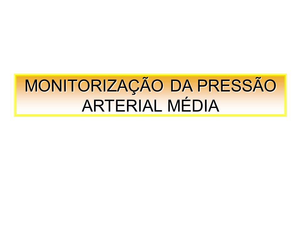 MONITORIZAÇÃO DA PRESSÃO ARTERIAL MÉDIA