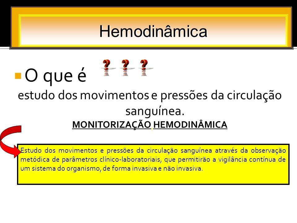 MONITORIZAÇÃO HEMODINÂMICA