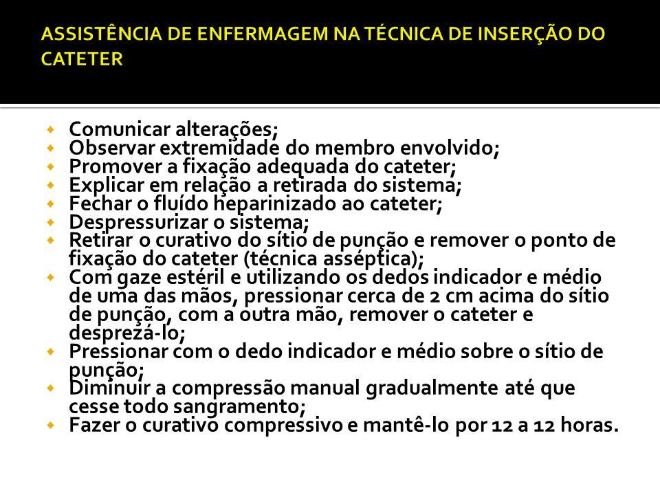 ASSISTÊNCIA DE ENFERMAGEM NA TÉCNICA DE INSERÇÃO DO CATETER