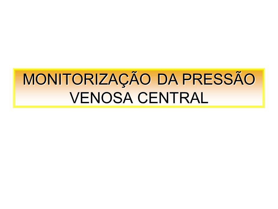 MONITORIZAÇÃO DA PRESSÃO VENOSA CENTRAL