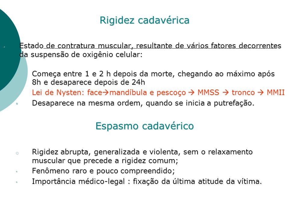 Rigidez cadavérica Espasmo cadavérico