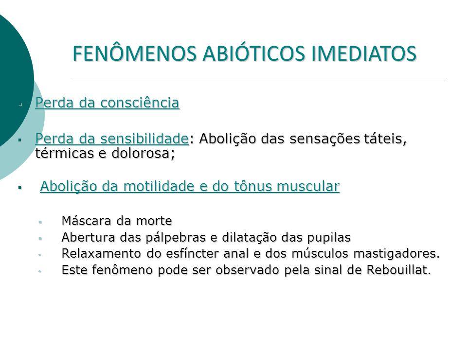 FENÔMENOS ABIÓTICOS IMEDIATOS