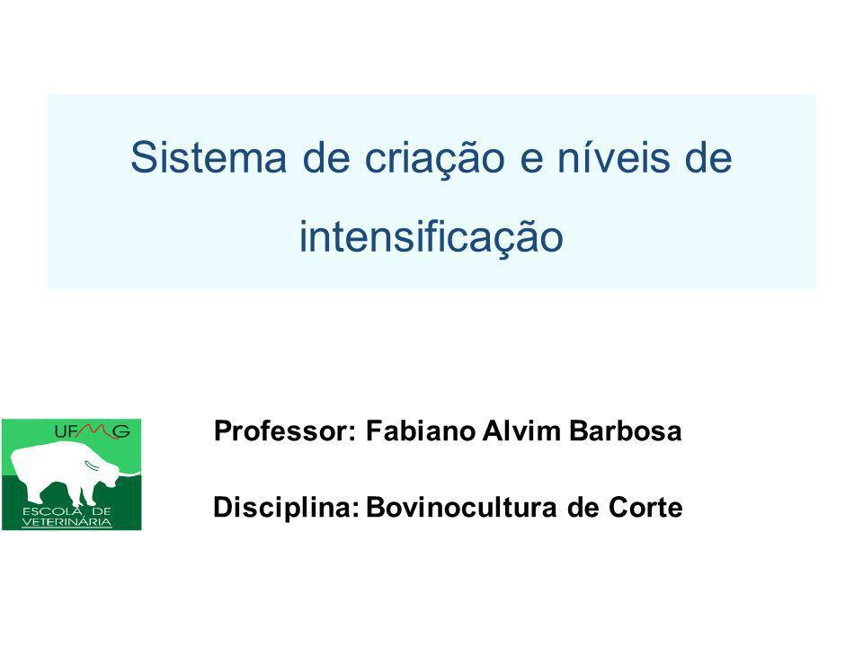 Professor: Fabiano Alvim Barbosa Disciplina: Bovinocultura de Corte