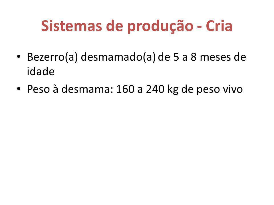 Sistemas de produção - Cria