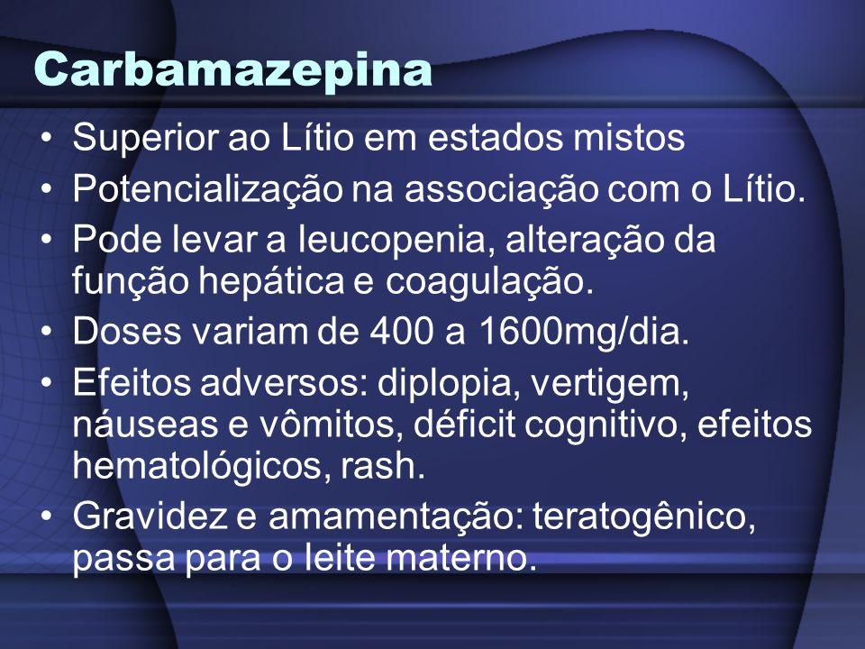 Carbamazepina Superior ao Lítio em estados mistos