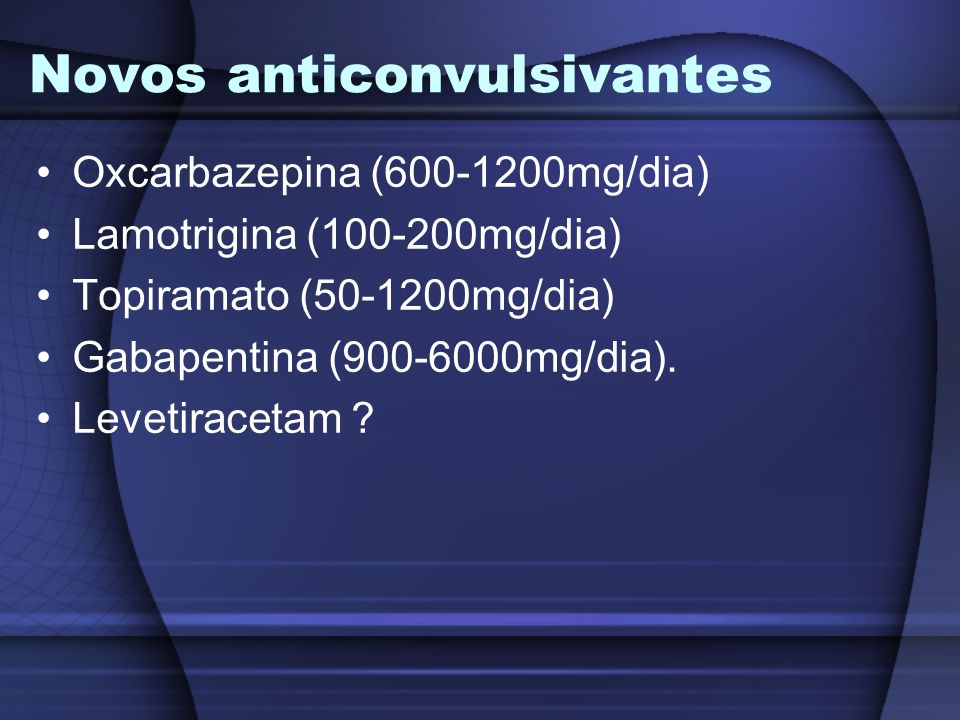 Novos anticonvulsivantes