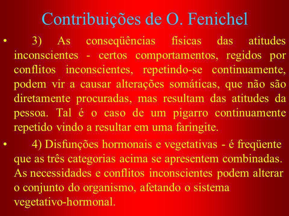 Contribuições de O. Fenichel