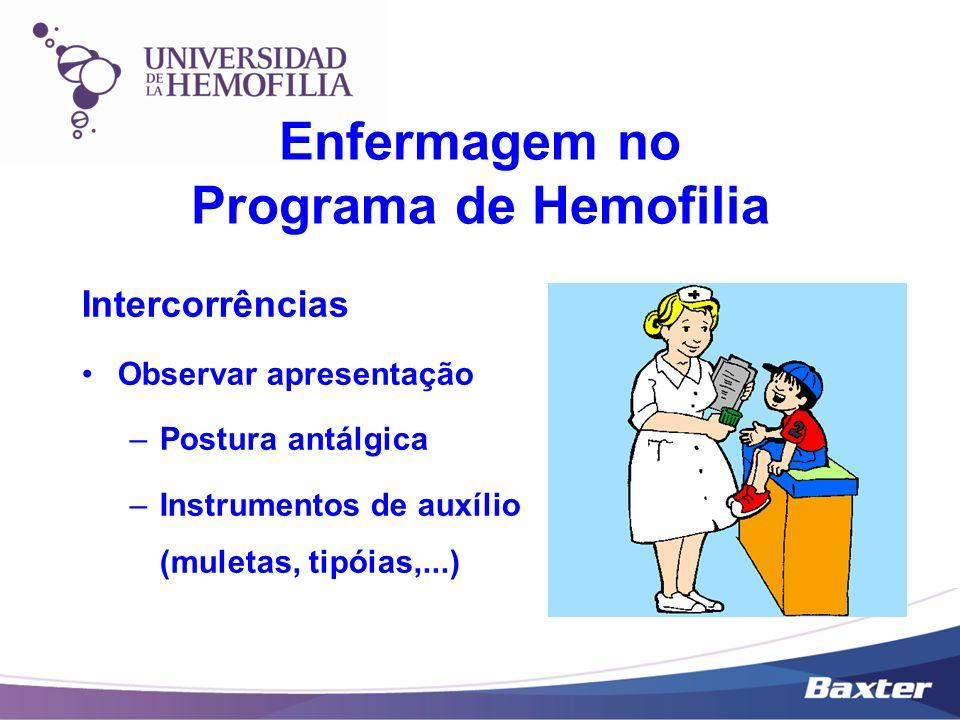 Enfermagem no Programa de Hemofilia