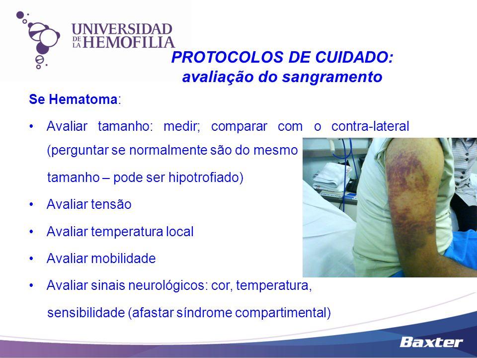 PROTOCOLOS DE CUIDADO: avaliação do sangramento