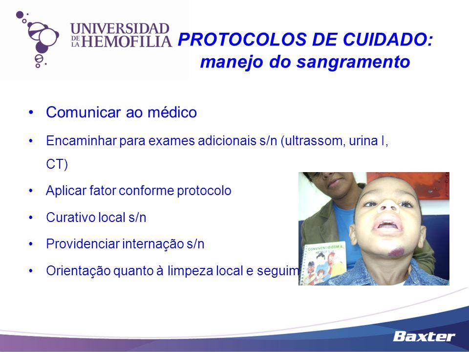PROTOCOLOS DE CUIDADO: manejo do sangramento