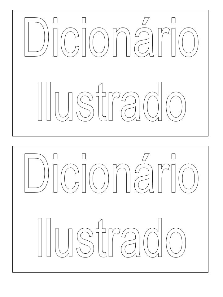 Dicionário Ilustrado Dicionário Ilustrado