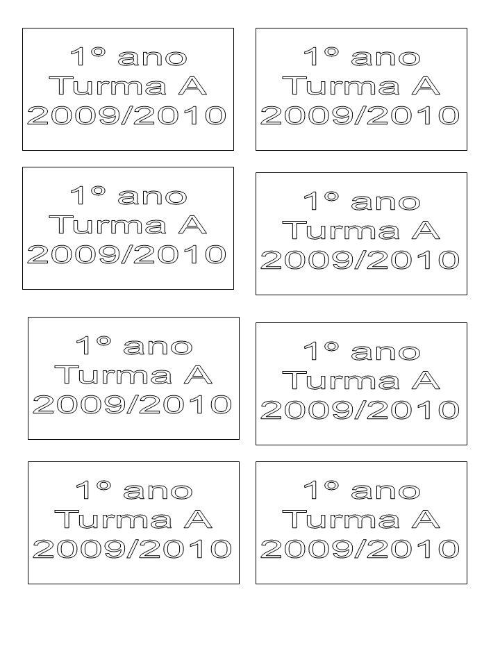 1º ano Turma A. 2009/2010. 1º ano. Turma A. 2009/2010. 1º ano. Turma A. 2009/2010. 1º ano. Turma A.