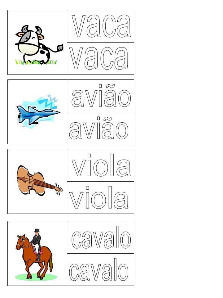 vaca vaca avião avião viola viola cavalo cavalo