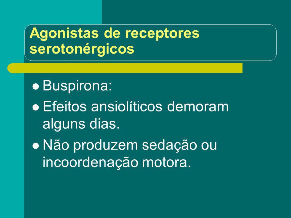 Agonistas de receptores serotonérgicos