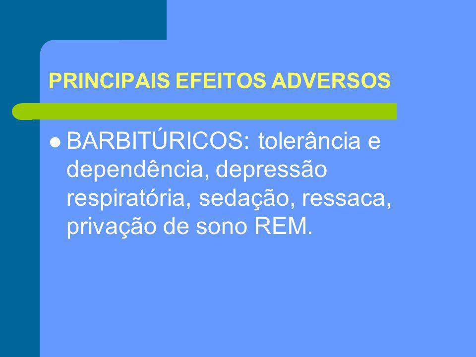 PRINCIPAIS EFEITOS ADVERSOS