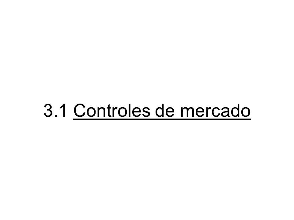 3.1 Controles de mercado