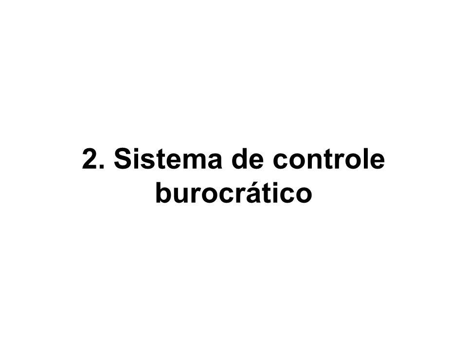 2. Sistema de controle burocrático