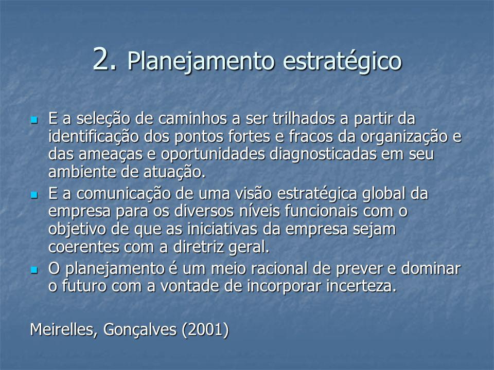 2. Planejamento estratégico