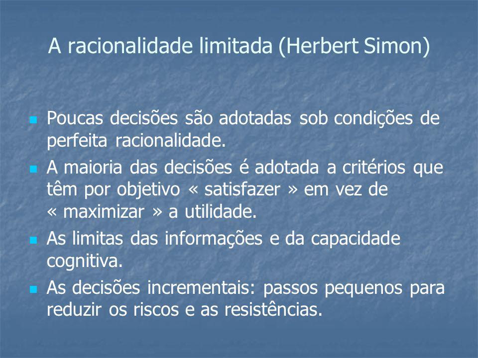A racionalidade limitada (Herbert Simon)
