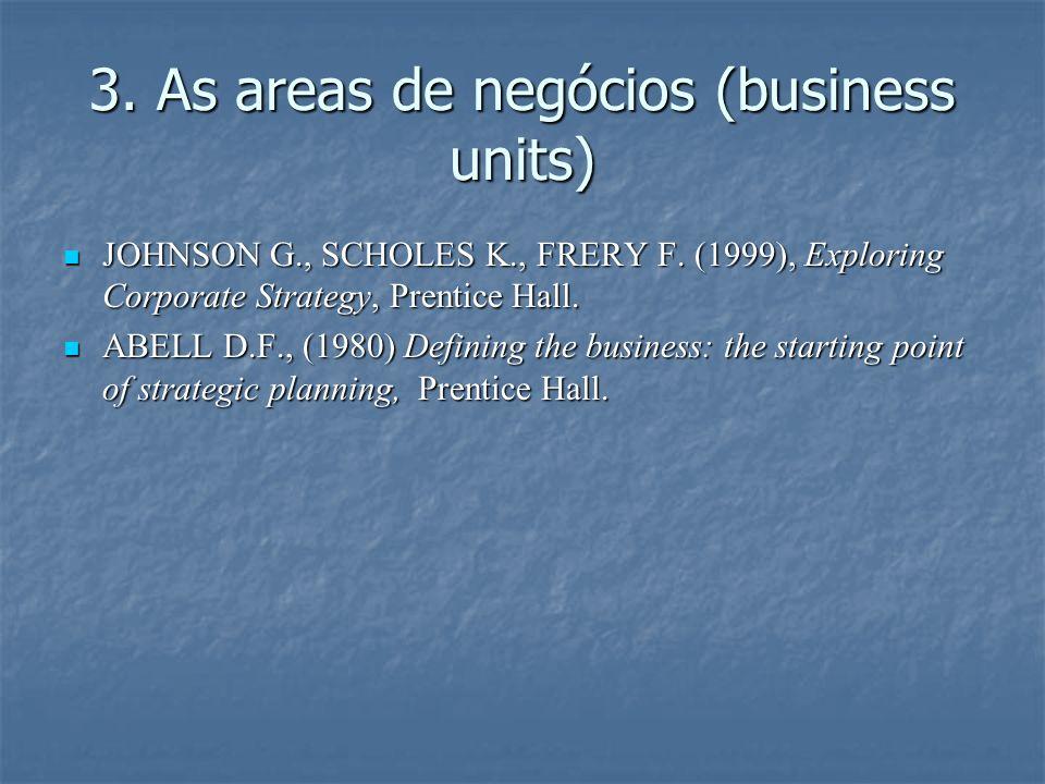 3. As areas de negócios (business units)