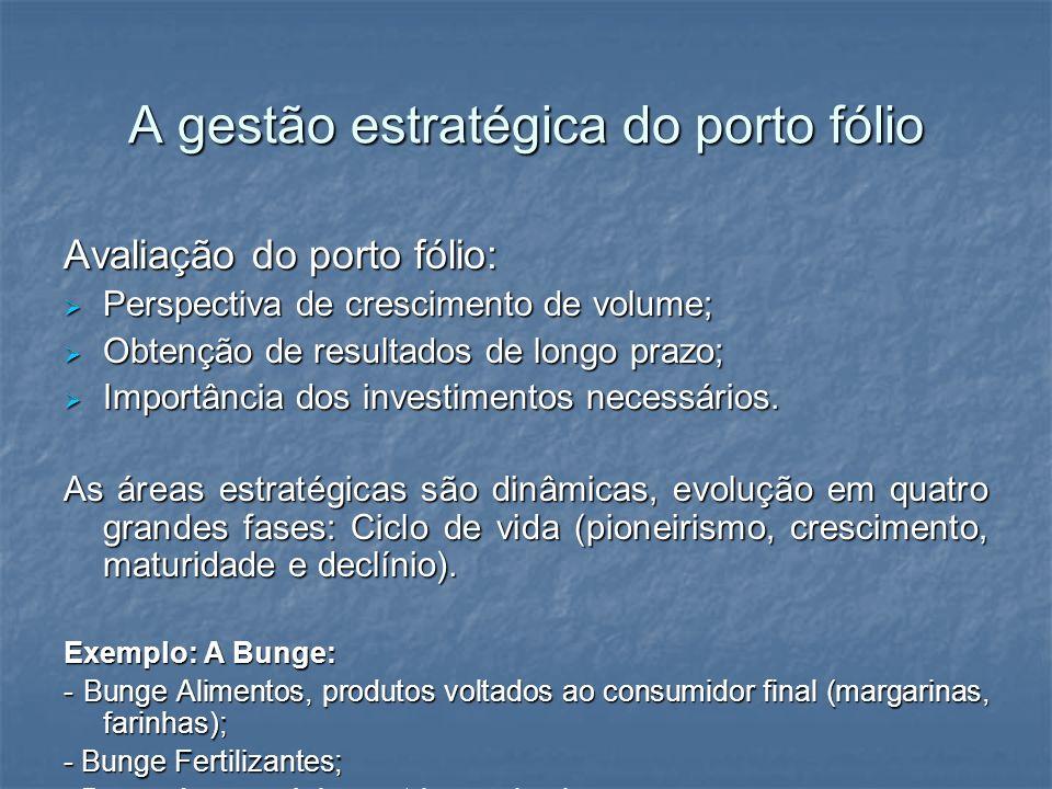 A gestão estratégica do porto fólio