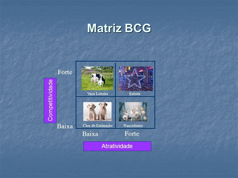 Matriz BCG Forte Baixa Baixa Forte Vaca Leiteira Competitividade