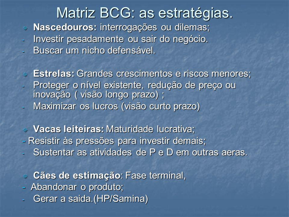 Matriz BCG: as estratégias.