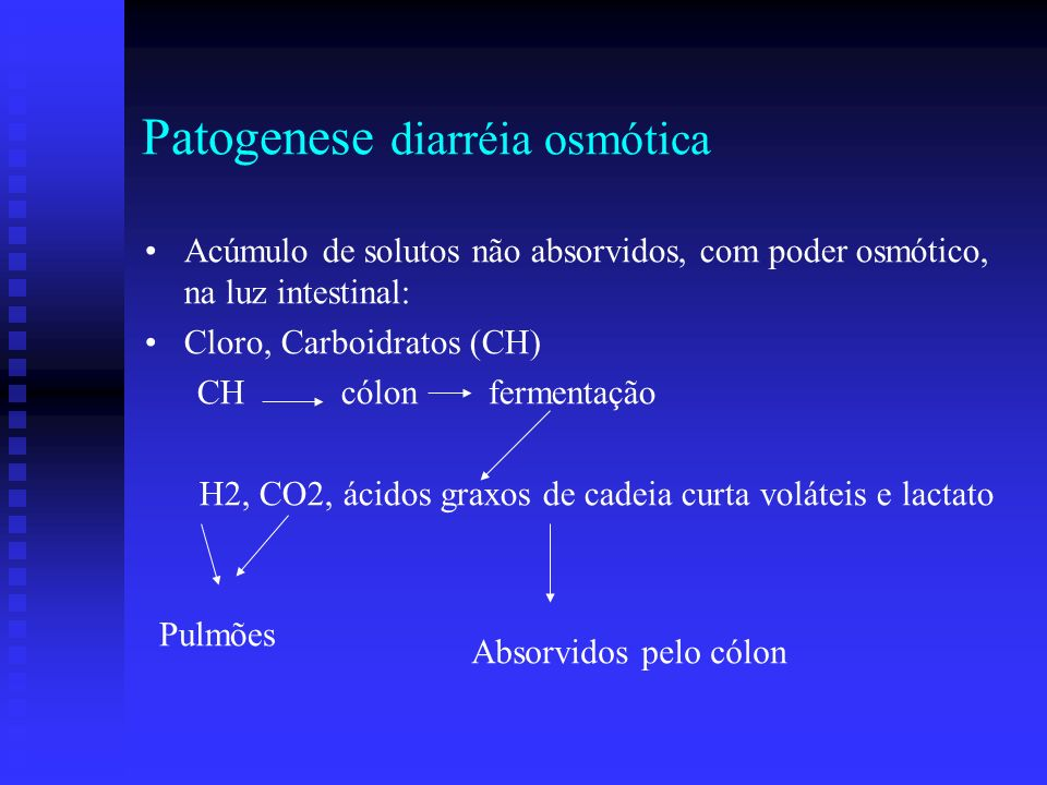 H2, CO2, ácidos graxos de cadeia curta voláteis e lactato