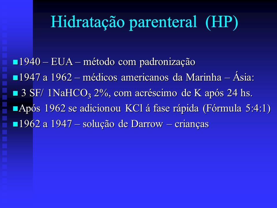Hidratação parenteral (HP) Hidratação parenteral (HP)
