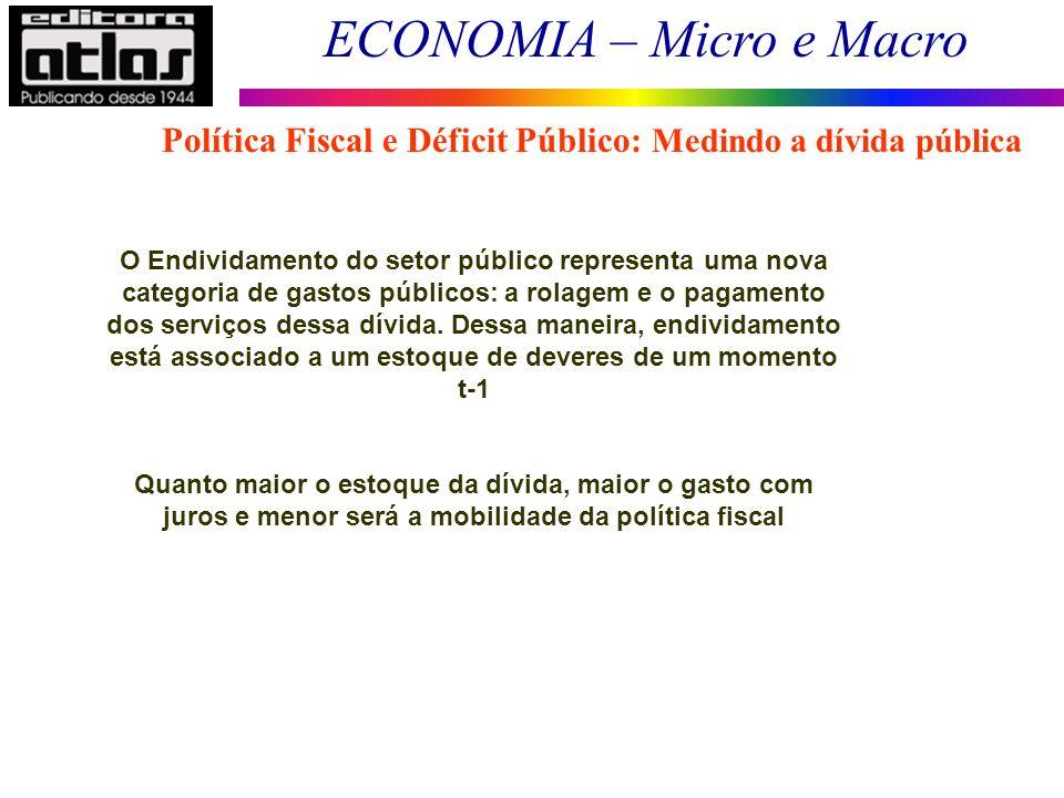 Política Fiscal e Déficit Público: Medindo a dívida pública
