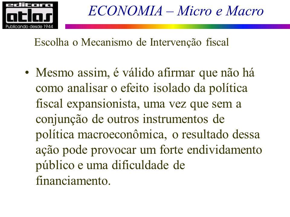 Escolha o Mecanismo de Intervenção fiscal