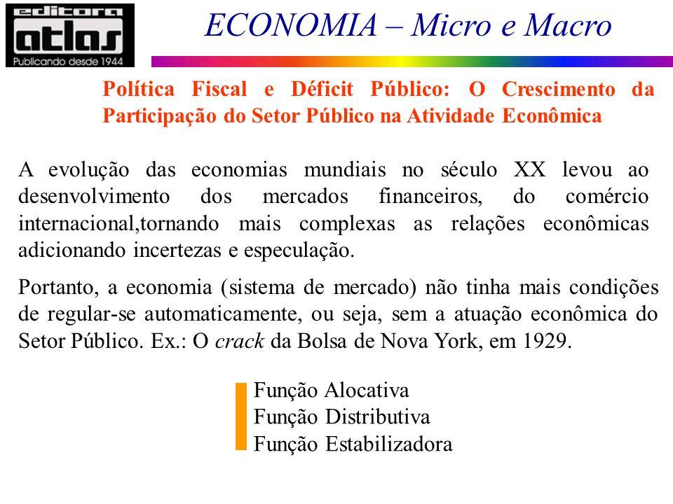 Política Fiscal e Déficit Público: O Crescimento da Participação do Setor Público na Atividade Econômica