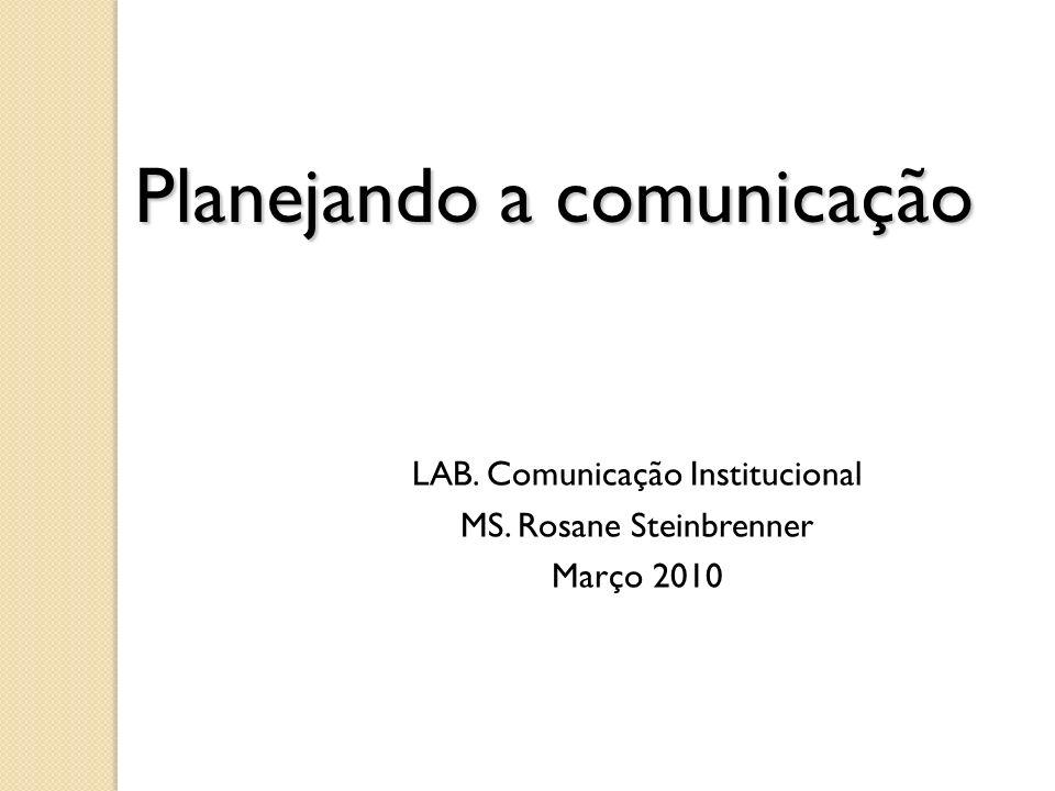 Planejando a comunicação