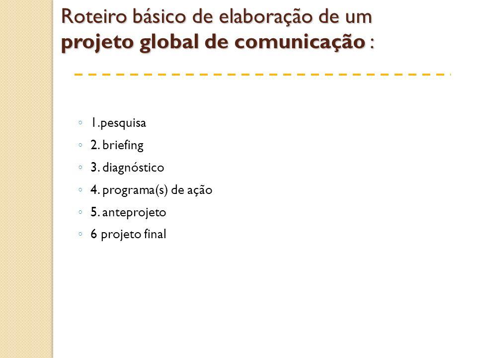 Roteiro básico de elaboração de um projeto global de comunicação :