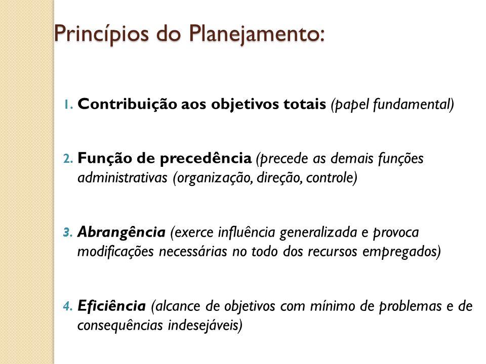 Princípios do Planejamento: