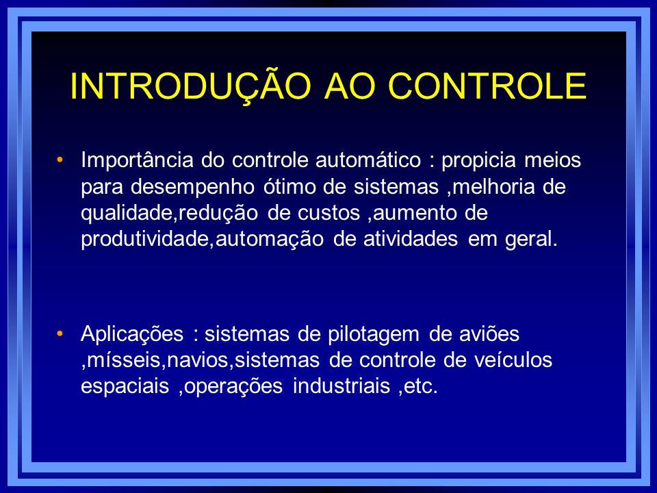 INTRODUÇÃO AO CONTROLE