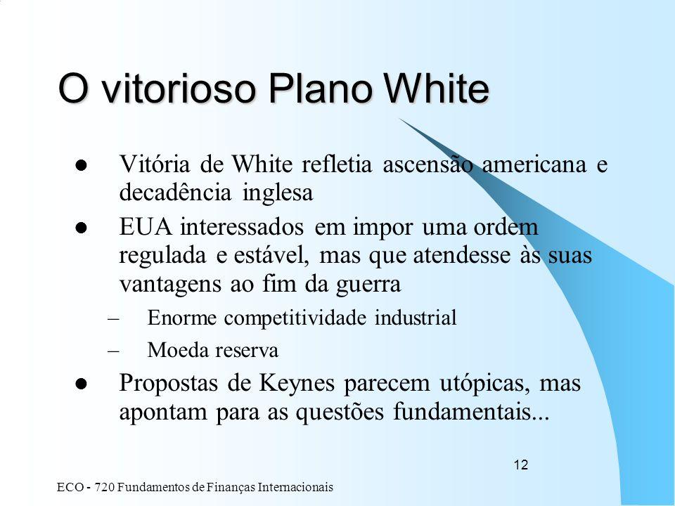 O vitorioso Plano White