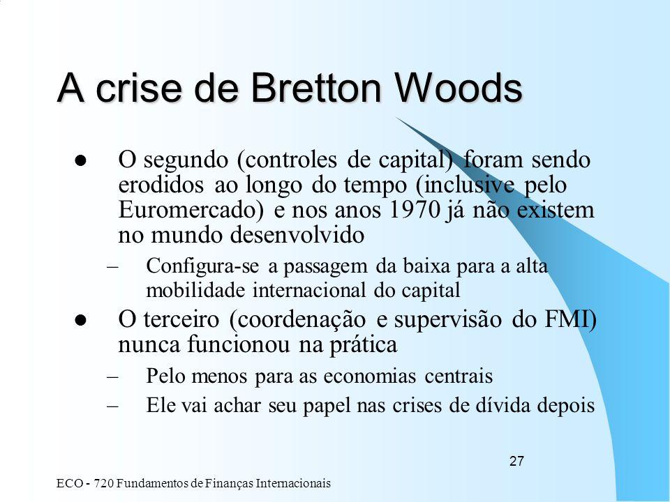 A crise de Bretton Woods