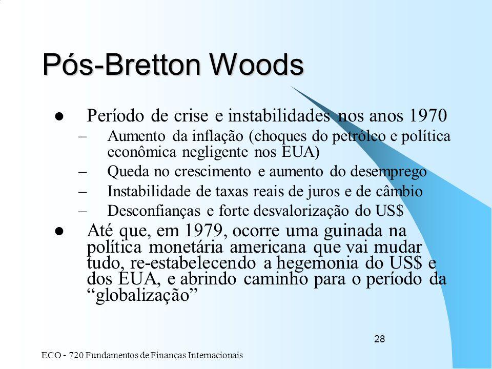 Pós-Bretton Woods Período de crise e instabilidades nos anos 1970