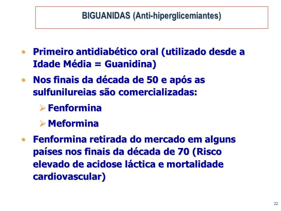 BIGUANIDAS (Anti-hiperglicemiantes)