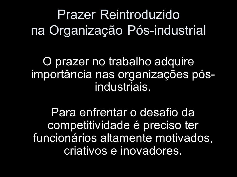 Prazer Reintroduzido na Organização Pós-industrial