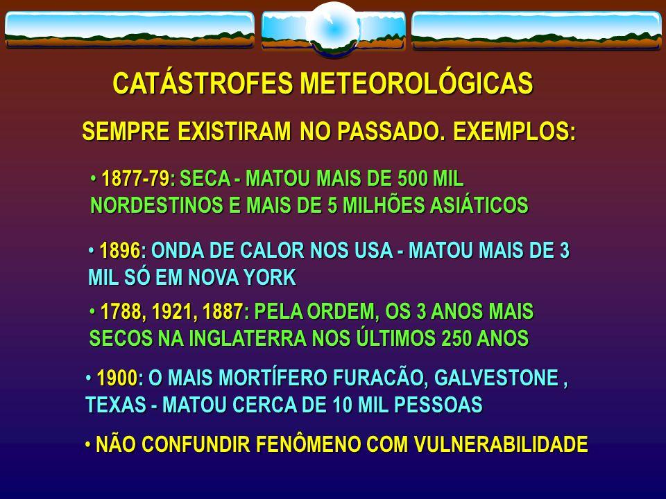 CATÁSTROFES METEOROLÓGICAS