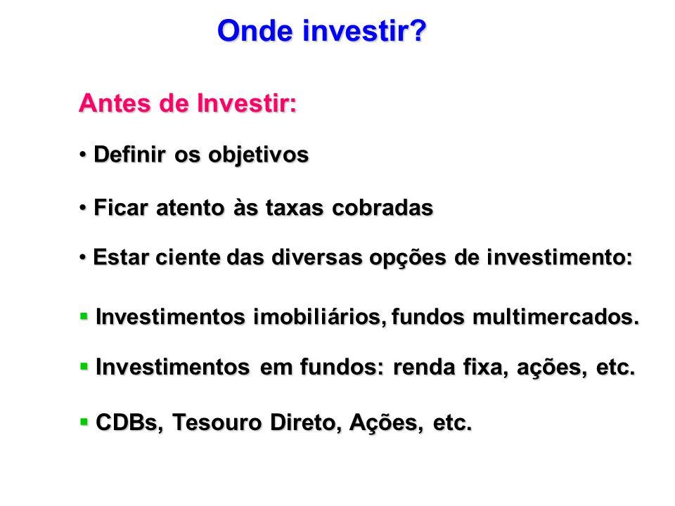Onde investir Antes de Investir: Definir os objetivos